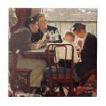 Saying Grace by Norman Rockwell Tile