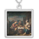 Saying Grace Square Pendant Necklace