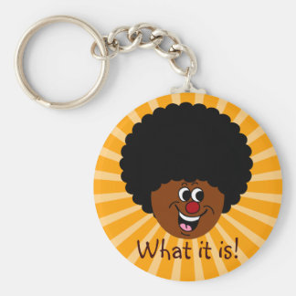 Saying Hello to New Friends in an Old Way Basic Round Button Keychain