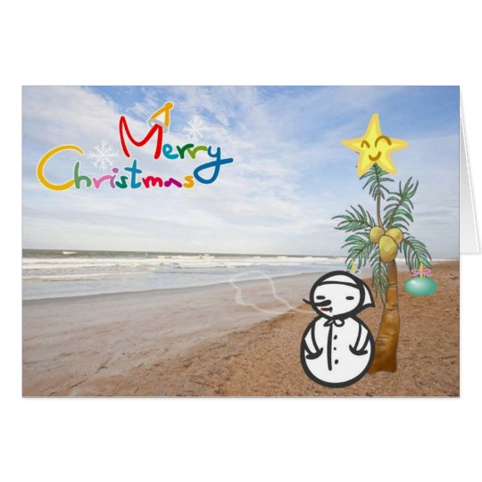 """SAYING MERRY CHRISTMAS """"FROM THE BEACH"""" CARD"""
