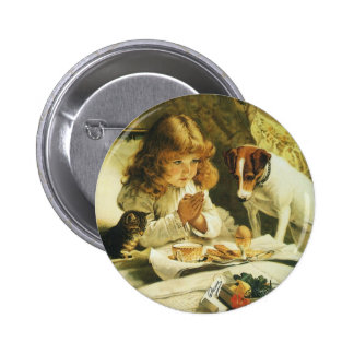 Saying Our Prayers, Suspense Charles Burton Barber 2 Inch Round Button