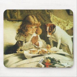 Saying Our Prayers, Suspense Charles Burton Barber Mouse Pad