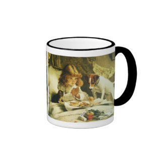 Saying Our Prayers, Suspense Charles Burton Barber Ringer Coffee Mug