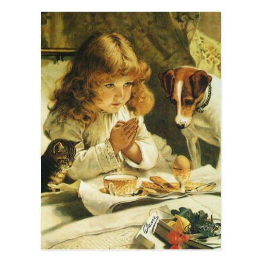 Saying Our Prayers, Suspense Charles Burton Barber Postcard