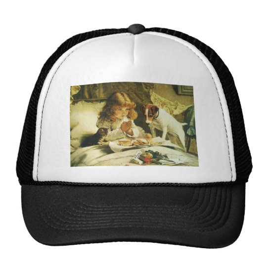 Saying Our Prayers, Suspense Charles Burton Barber Trucker Hat
