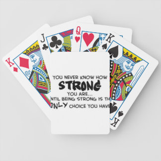 Sayings Bicycle Playing Cards