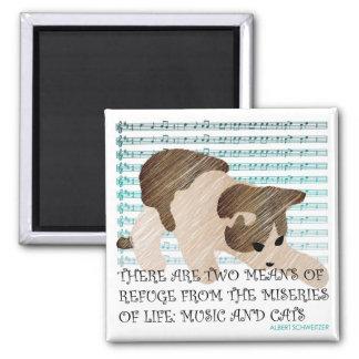 Sayings Cat Music Magnet