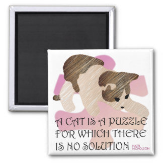 Sayings Cat Puzzle Magnet