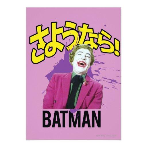 Sayonara Batman Invitación 12,7 X 17,8 Cm