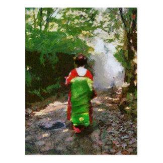 Sayonara maiko-san postcard