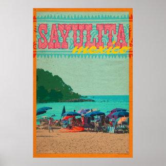 Sayulita Mexico Vintage Style Travel Poster