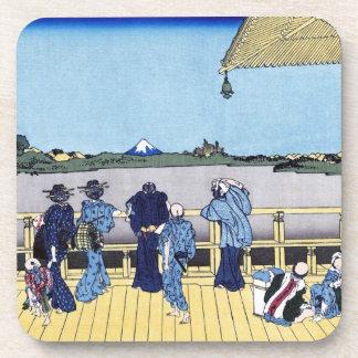 Sazai hall - 500 Rakan temples Katsushika Hokusai Coaster