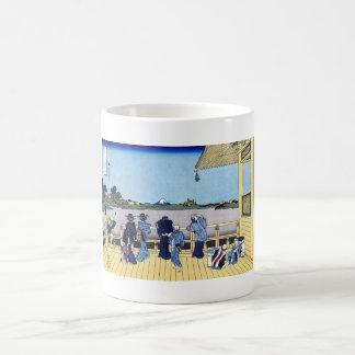 Sazai hall - 500 Rakan temples Katsushika Hokusai Classic White Coffee Mug