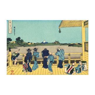 Sazai hall - Temple of Five Hundred Rakan Stretched Canvas Prints