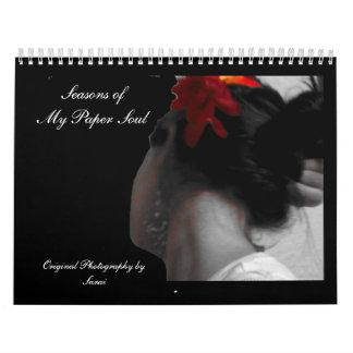 Sazona alma de papel fMy de o Calendarios