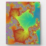 """¡""""Sazona"""" arte del fractal! Placa Para Mostrar"""