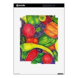 Sazona arte del lápiz con pimienta de la acuarela iPad 2 calcomanía