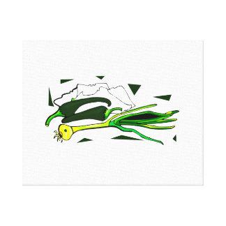 sazona el gráfico verde de los scallions con pimie impresiones en lienzo estiradas