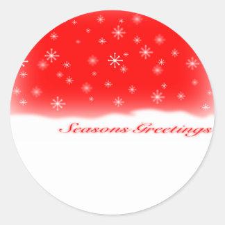 sazona los saludos RED.svg Etiquetas Redondas