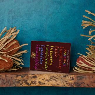 Sazone su vida con las especias del Quaker Placas De Madera