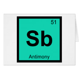 Chemistry antimony cards greeting photo cards zazzle sb antimony chemistry periodic table symbol card urtaz Image collections