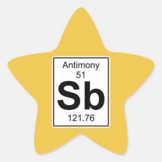 Sb - Antimony Star Sticker