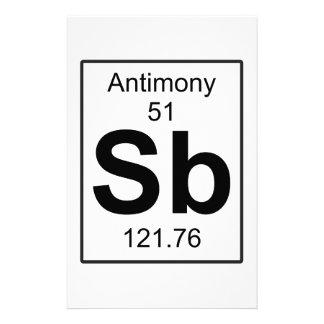 Sb - Antimony Stationery