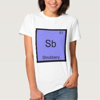 Sb - camiseta divertida del símbolo del elemento playera