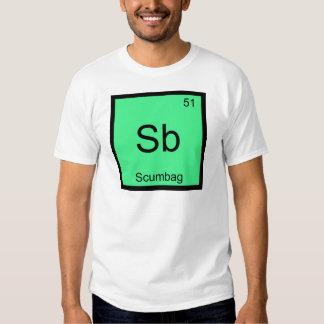 Sb - Scumbag Chemistry Element Symbol Funny Tee