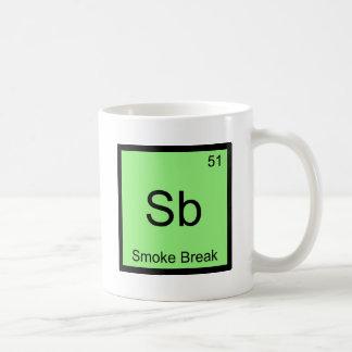 Sb - Smoke Break Chemistry Element Symbol Tee Classic White Coffee Mug