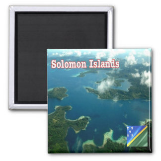 SB - Solomon Islands - Aerial View 2 Inch Square Magnet