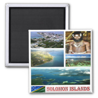 SB - Solomon Islands - mosaic collage 2 Inch Square Magnet