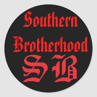 SB Sticker, SouthernBrotherhood Classic Round Sticker