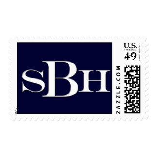 SBH custom monogram postage for Bar Mitzvah