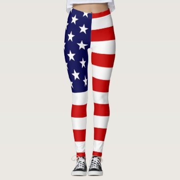 USA Themed SBM Patriotic Leggings