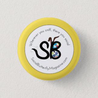 SBM Summer Social Animal Logo Mini Button Pin