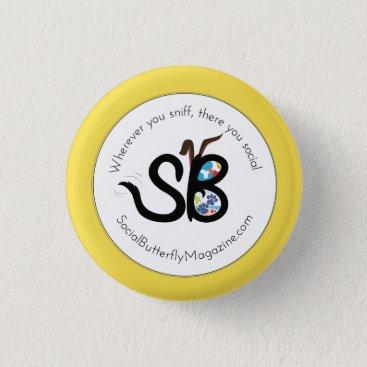 Beach Themed SBM Summer Social Animal Logo Mini Button Pin