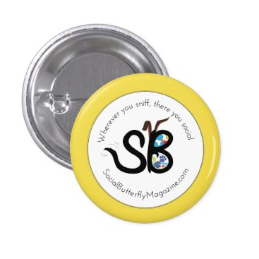 Beach Themed SBM Summer Social Animal Logo Mini Button Pin