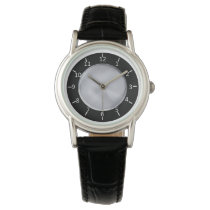 SBS Black and Silver Classic Black Leather Wrist Watches