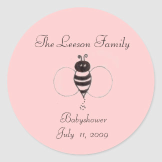 sc00078761, The Leeson Family,  BabyshowerJuly ... Classic Round Sticker