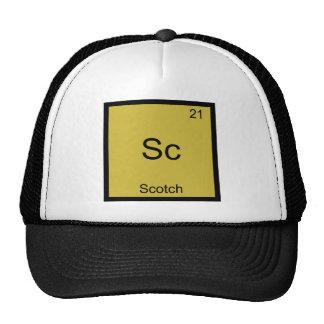 Sc - Camiseta divertida escocesa del símbolo del e Gorros Bordados