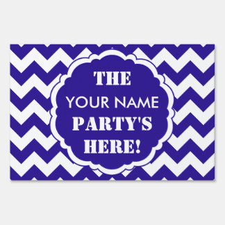 SC Chevron Party Sign, Blue and White Lt Yard Sign