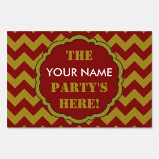 SC Chevron Party Sign, Maroon and Gold Lawn Sign
