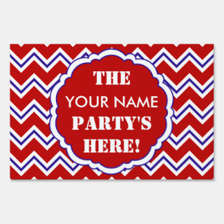 SC Chevron Party Sign, Red, White and Blue Lawn Sign