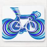 Sc de la bici de la pista alfombrilla de raton