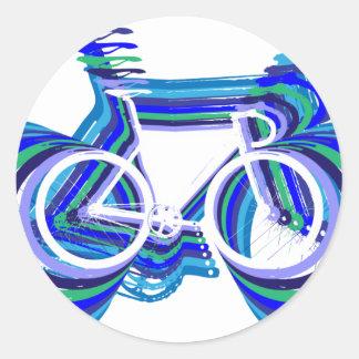 Sc de la bici de la pista etiqueta