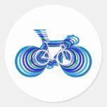 Sc de la bici de la pista pegatinas redondas