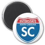 SC de un estado a otro de Carolina del Sur Imán Para Frigorifico