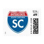 SC de un estado a otro de Carolina del Sur Sello