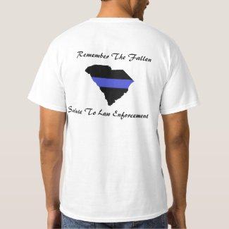SC 'Fallen LEO' Value Men's T-Shirt (White)